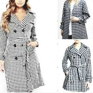 Bromleigh VTG double breasted gingham coat 12(s/m)